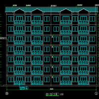 贵州一梯六户6+1层砖混结构公租房建筑及结构图