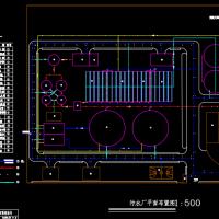 污水处理厂总平面布置图(课设图)