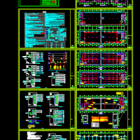 宁波某四层电器丙类厂房建筑配电设计图(含照度计算书)