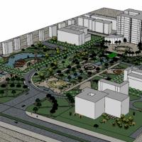 某大学广场景观规划su模型图