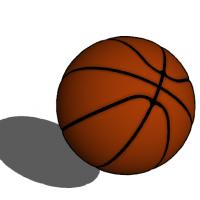 一个篮球su模型图