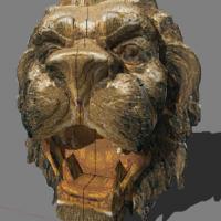 狮子头雕塑su模型