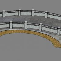 两座景观小桥su模型图